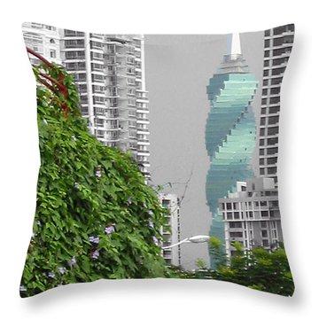 The Green Season In Panama Throw Pillow