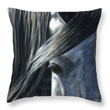The Grey Throw Pillow by Sheri Gordon