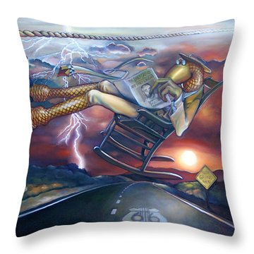 The Grinder Throw Pillow by Patrick Anthony Pierson