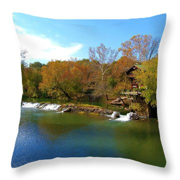Throw Pillow featuring the photograph The Grist Big River by Peggy Franz