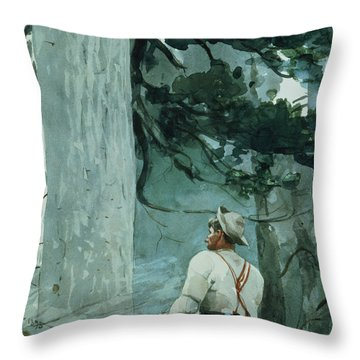 The Guide Throw Pillow by Winslow Homer