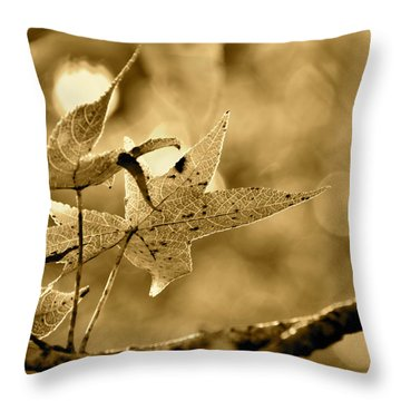 The Gum Leaf Throw Pillow
