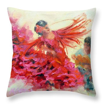 The Gypsy Throw Pillow by Marie Green