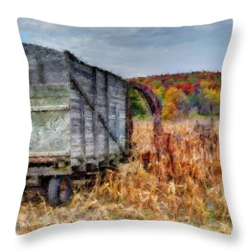 The Harvester Throw Pillow by Michael Garyet