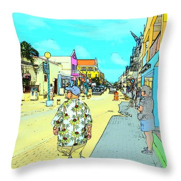 The Hawaiian Shirt Throw Pillow