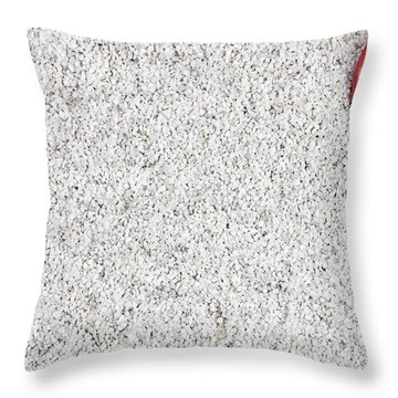 The Heart In The Sand Throw Pillow by Joana Kruse
