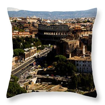 The Historic Centre Of Rome Throw Pillow by Fabrizio Troiani