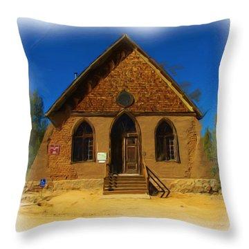 The Historic Hearst Church Throw Pillow by FeVa  Fotos
