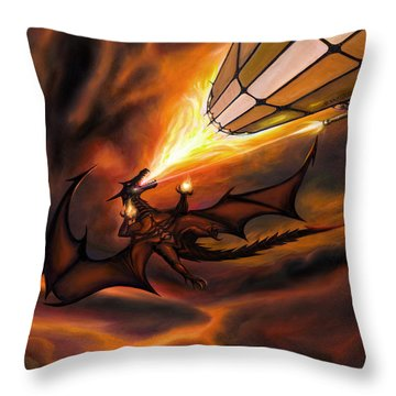 The H.m.s. George  Throw Pillow by James Christopher Hill