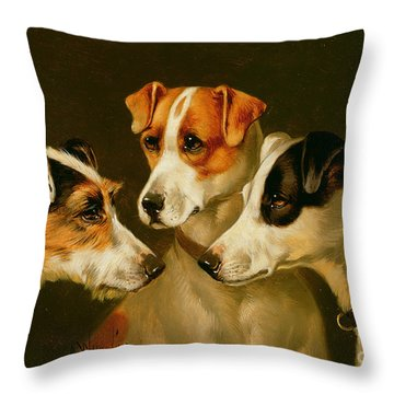 The Hounds Throw Pillow by Alfred Wheeler