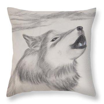 The Howler Throw Pillow by Maria Urso