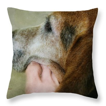 The Human Touch Throw Pillow by Joan Bertucci