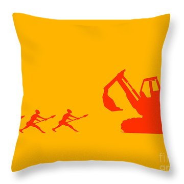 The Hunters Throw Pillow by Pixel Chimp