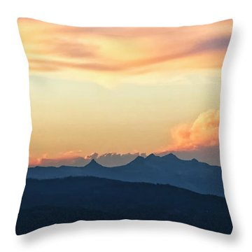 Throw Pillow featuring the photograph The Idaho Selkirks by Albert Seger