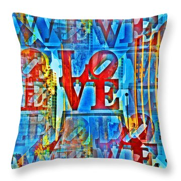 The Illusion Of Love Throw Pillow by Bill Cannon