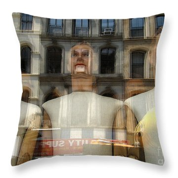 The Impersonal City Throw Pillow by Judee Stalmack
