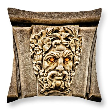 The Incensed Scowler  Throw Pillow by Christopher Holmes