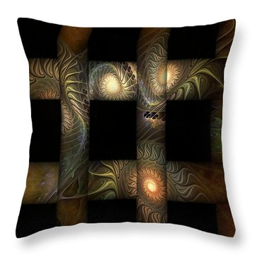 Throw Pillow featuring the digital art The Indomitability Of The Idea by Casey Kotas