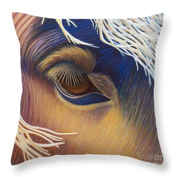 The Inner Voice Throw Pillow by Brian  Commerford