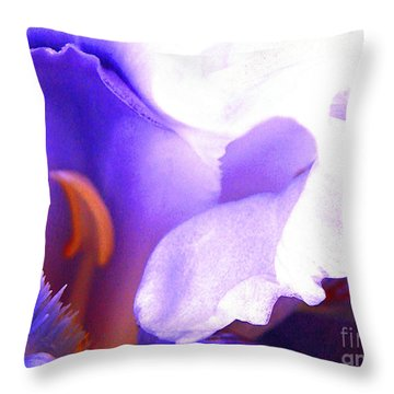 The Intimate Iris Throw Pillow by Jerome Stumphauzer