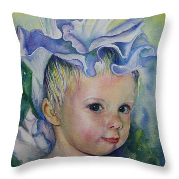 The Iris Princess Throw Pillow