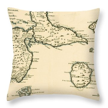 The Islands Of Guadeloupe Throw Pillow by Guillaume Raynal