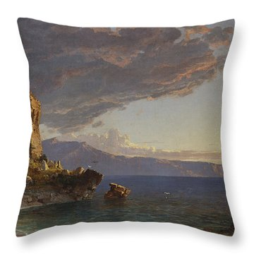 The Isle Of Capri Throw Pillow by Jasper Francis Cropsey
