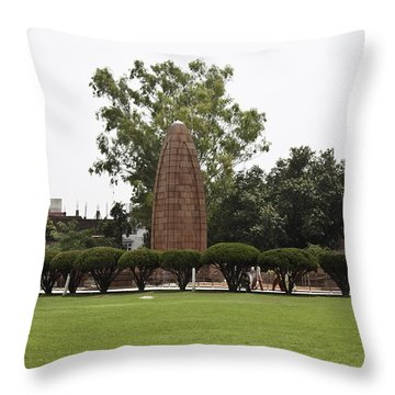 Throw Pillow featuring the photograph The Jallianwala Bagh Memorial In Amritsar by Ashish Agarwal