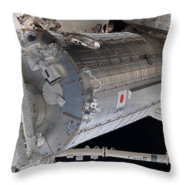 The Japanese Pressurized Module, The Throw Pillow by Stocktrek Images