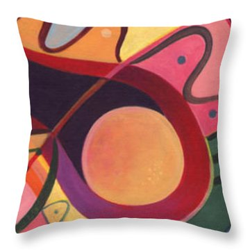 The Joy Of Design Triptych Throw Pillow by Helena Tiainen