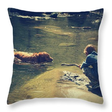 The Joys Of Innocence Throw Pillow by Laurie Search