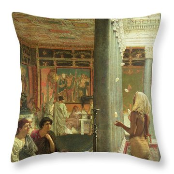 The Juggler Throw Pillow by Sir Lawrence Alma-Tadema