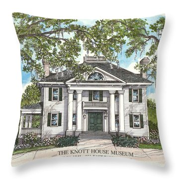 The Knott House Circa 1843 Throw Pillow
