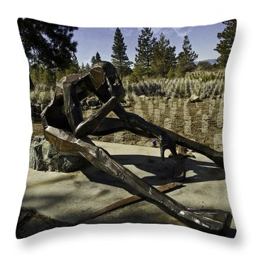 Throw Pillow featuring the photograph The Korean Veteran by Larry Depee