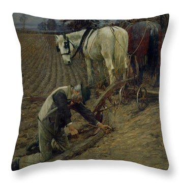 The Last Furrow Throw Pillow