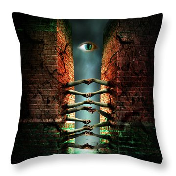 The Last Gate Throw Pillow