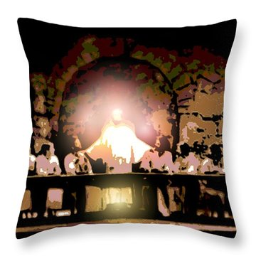 the Last Supper Throw Pillow by George Pedro
