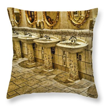 The Lav Of Luxury Throw Pillow by Anne Rodkin