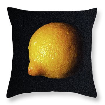 The Lazy Lemon Throw Pillow by Andee Design
