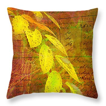 The Leaves Of Yesteryear Throw Pillow by Judi Bagwell