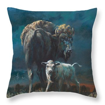 The Legend Begins Throw Pillow by Mia DeLode