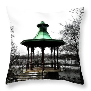 The Lemon Hill Gazebo - Philadelphia Throw Pillow by Bill Cannon