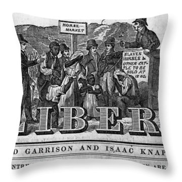 The Liberator Masthead Throw Pillow by Photo Researchers