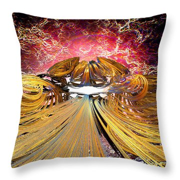 The Light At The End Of The Tunnel Throw Pillow by Michael Durst