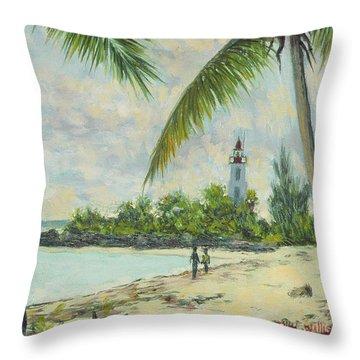 The Lighthouse - Zanzibar Throw Pillow by Tilly Willis