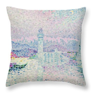The Lighthouse At Antibes Throw Pillow by Paul Signac