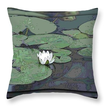The Lily Bloom Throw Pillow