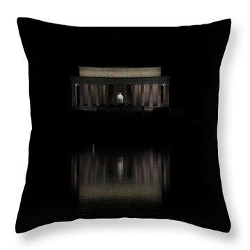 The Lincoln Memorial Throw Pillow by Kim Hojnacki