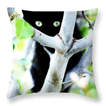 Throw Pillow featuring the photograph The Little Huntress by Jessica Shelton