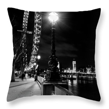 The London Eye At Night Throw Pillow